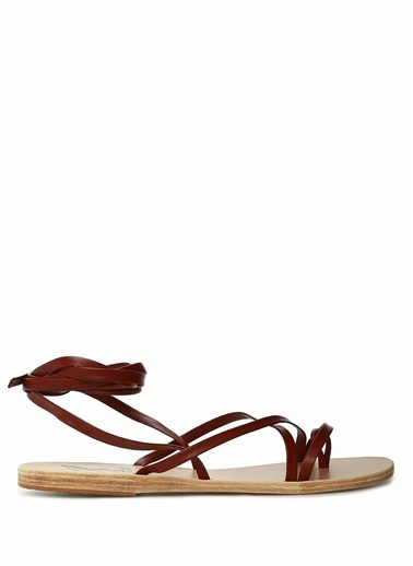 Ancient Greek Sandals Sandalet Bordo